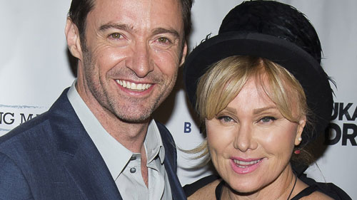 Hugh Jackman with his wife
