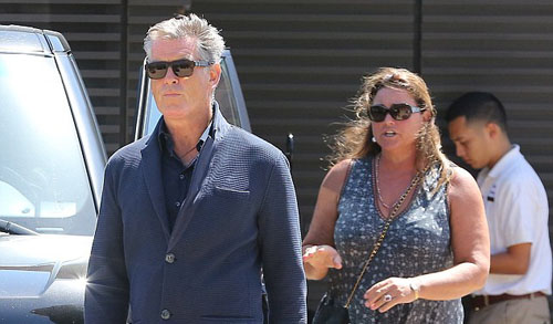 Pierce Brosnan with his wife
